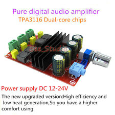 TPA3116 D2 Dual Channel Chips Pure Digital Audio Amplifier Board 12V-24V 2*100W