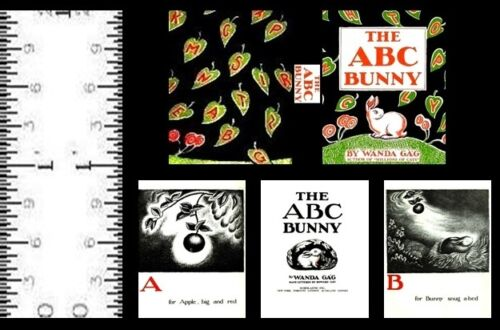 1:12 SCALE MINIATURE BOOK THE ABC BUNNY WANDA GÁG