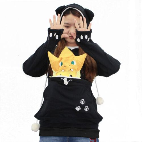 Women/'s Kangaroo Pet Dog Cat Holder Carrier Coat Pouch Large Pocket Hoodie Tops