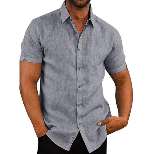 Neue Art und Weise Mens-Kurzschluss-Hülsen-Sommer-feste Hemden lösen WA