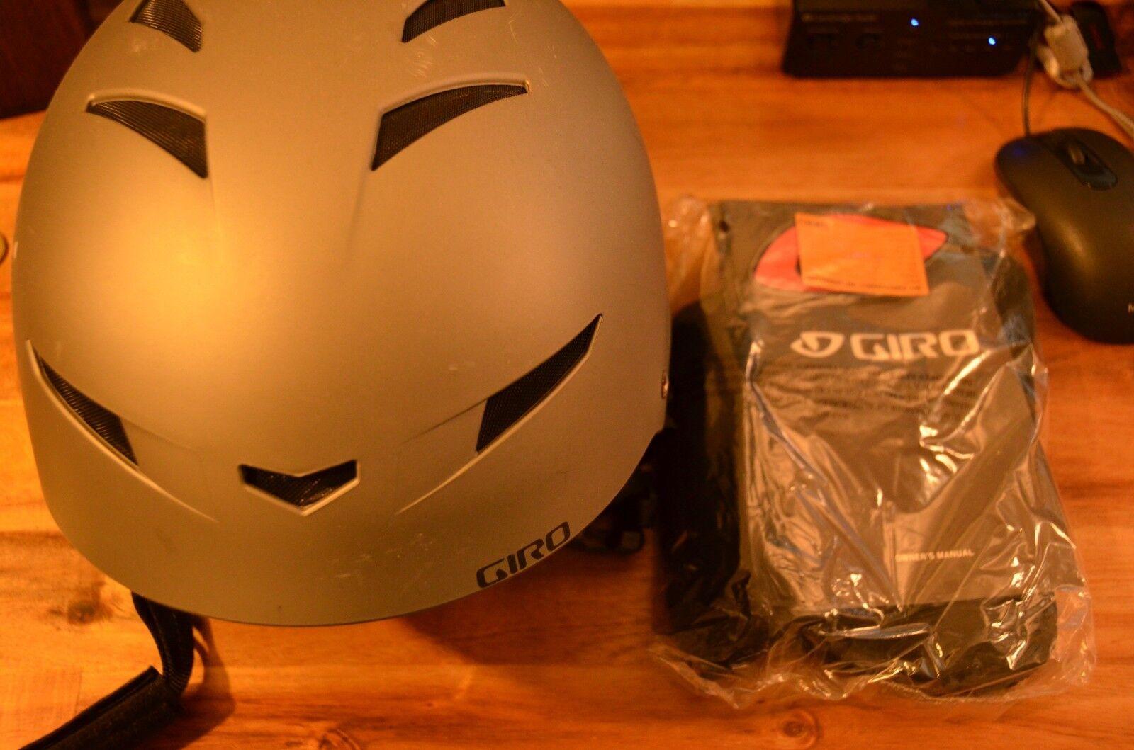 Boxed Giro Encore 2 Matt Titanium Ski Snowboard bike helmet  size M 55.5-59cm  incentive promotionals