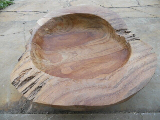 Große Teak Schale Obstschale Deko ca. 46 cm massiv Teakholz natur geölt | Neue Sorten werden eingeführt