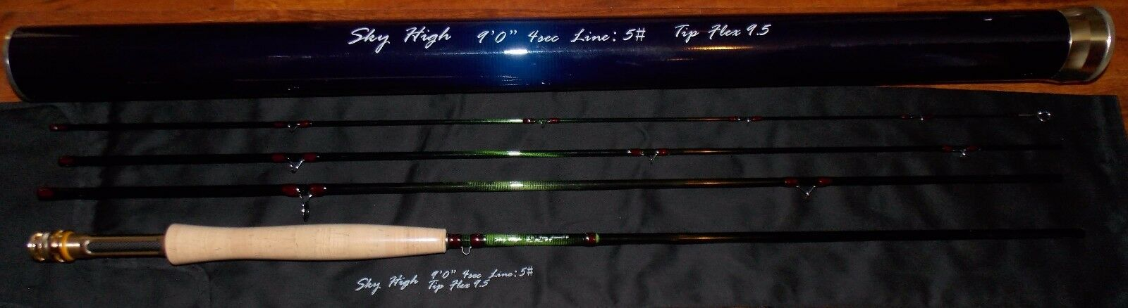 Skyhigh 9'0''  5WT 4Sc Fly Fishing Rod Carbon Fiber Graphite FREE 3 DAY SHIPPING