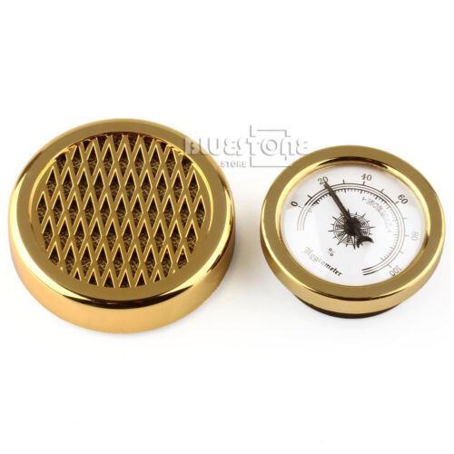 Humidifier for Cigar Humidor Humidors GOLD Color Smoking Tobacco Hygrometer