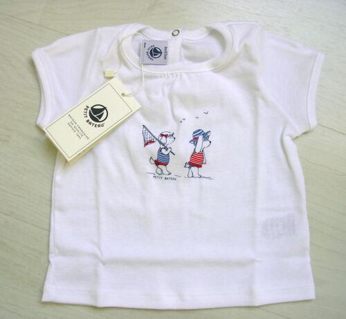 T-shirt avec récemment bras de petit bateau blanc avec de belles inscriptions nouveau!