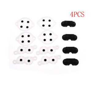 4-Sets-Replacement-Silicone-Conductive-Buttons-Pads-For-Nintendo-NES-Controller