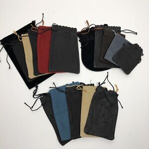 Vintage-Draw-String-Bag-Pouch-for-dice-Dungeons-amp-Dragons-Chessex-Lot-of-15