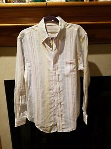 Striped Dress Casual Pell S amp; 100 Nwt Mrsp Co Linencotton Size 225 Mens Shirt z0qqpYw