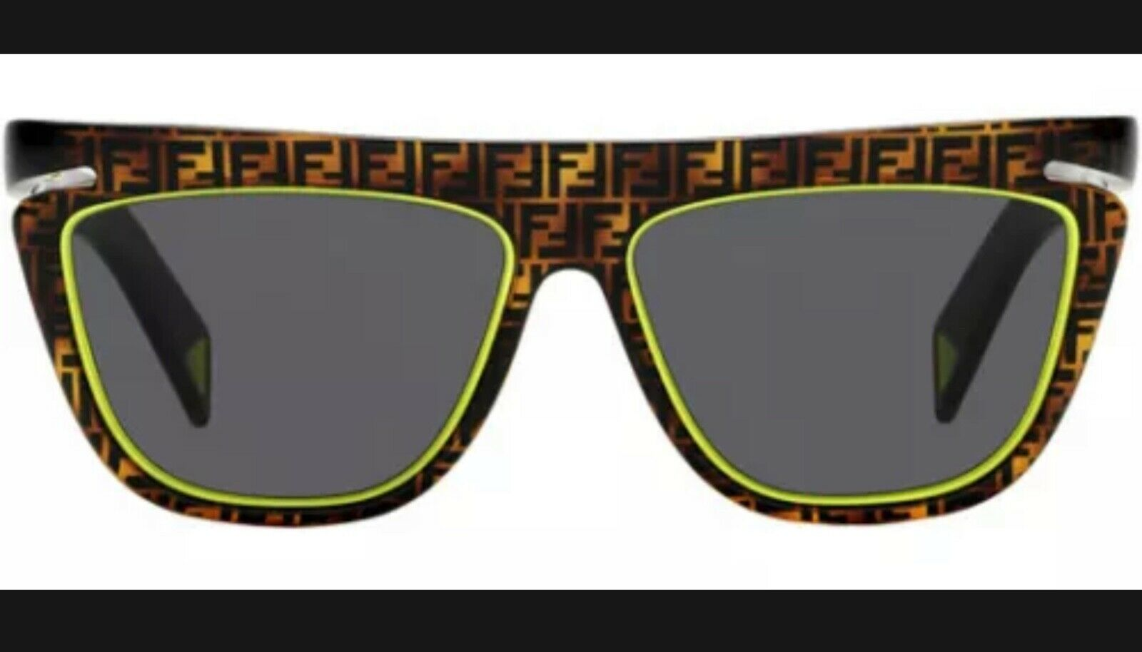 Authentic Fendi Unisex Flat Top Cut-Away Sunglasses - FF0384S - Made in Italy