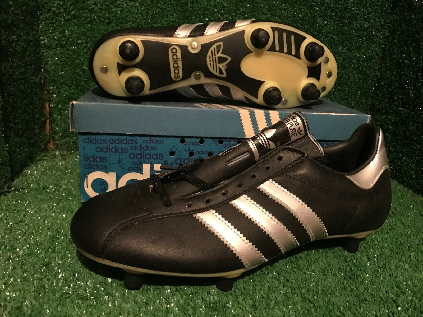 Lote  Adidas River Plate Vintage Fútbol botas Zapatos Botines De Varios Tamaños DEADSTOCK