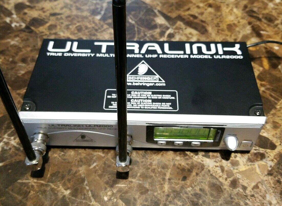Behringer ULTRALINK True diversity Multichannel UHF Receiver ULR 2000