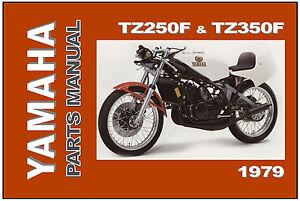 Yamaha parts manual tz350 tz350f tz250 tz250f 1979 for Yamaha electronic parts catalog