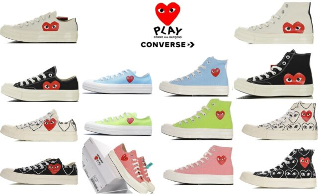CDG Converse Play Black Low Size 5