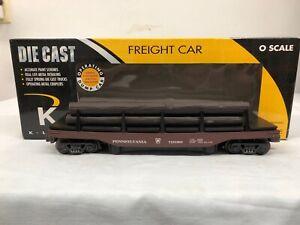K-line-Pennsylvania-Operating-Log-Dump-Car-w-6-Logs-K713-1891
