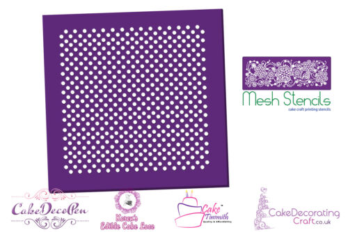 Printing Mesh StencilPolka DotsCake Decorating Craft