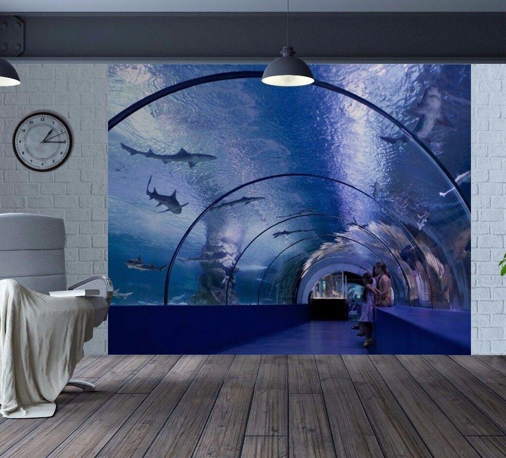 Toll Unterwasser Tunnel Haien Delphine Tapeten Wandbild (47007889)