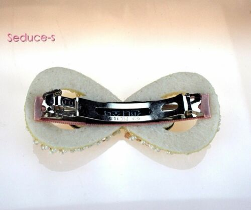 New Crystal Rhinestone Oval Bowknot Barrettes Hair Clip Clamp Hairpin