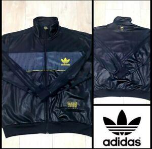 respirar amplio Floración  Adidas chile 62 jacket limited shiny black and yellow*rare*size M   eBay