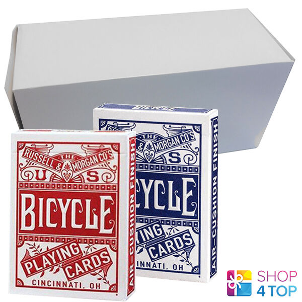 12 DECKS BICYCLE CHAINLESS 6 Blau AND 6 rot POKER PLAYING CARDS BOX CASE USA NEW