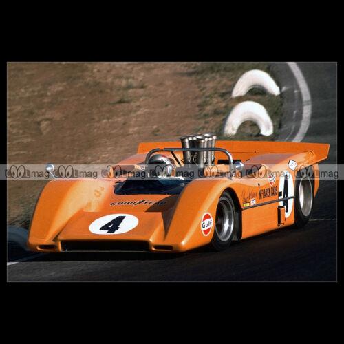 #pha.009367 Photo MCLAREN M8A 1968 BRUCE MCLAREN Car Auto