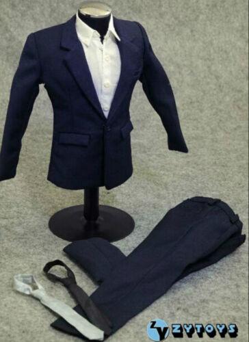 """SELLER U.S.A 1//6 Men Suit Full Set NAVY For 12/"""" Hot Toys Phicen Male Figure"""