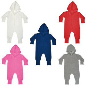 Girls' Clothing (newborn-5t) One-pieces Unisex Infant Babybugz Hooded Zip Up Pocket All In One Size 6/12 Mths-2/3 Yrs