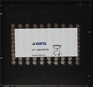 100-x-Baterias-suelta-Varta-V364-V-364-364-SR-621SW-hasta-2020