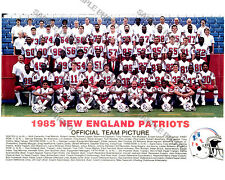 1985 NEW ENGLAND PATRIOTS AFC CHAMPIONS SUPER BOWL 8X10 TEAM PHOTO PICTURE