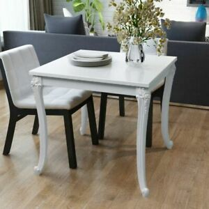 Details About Vidaxl Dining Table 31 5 High Gloss White Dinner Home Kitchen Desk