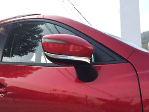 2-Cromo-Retrovisor-Lateral-Inferior-Tira-Tapa-Embellecedora-para-Mazda-CX-3