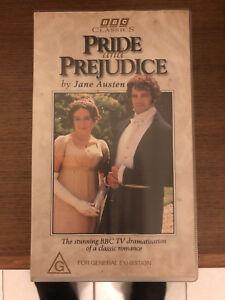 Pride-And-Prejudice-Mini-Series-VHS-BBC-Classics-Twin-pack-Video-1995