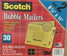 New Scotch Bubble Mailers 85 X 11 Inches Size 2 30 Pack Value Pack