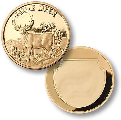 Mule Deer / Odocoileus hemionus - Engravable MerlinGold Coin