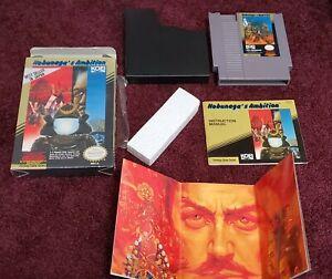 Nobunaga-s-Ambition-COMPLETE-IN-BOX-RARE-Nintendo-NES-Great-Condition