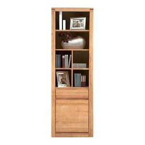 vitrine buche kernbuche massiv ge lt b cherregal neu sieht. Black Bedroom Furniture Sets. Home Design Ideas