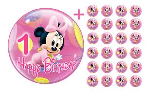 Essbarer-Tortenaufleger-Minnie-Maus-1-DVD-Deko-Muffinaufleger-Tortenbild-Party-CD