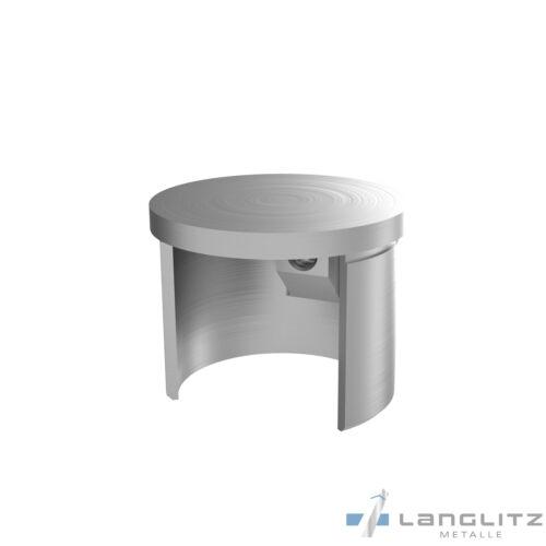 Acero V2A Pasamano LED Nutrohr Glasleistenrohr  42,4 40x40 60x40mm 1-5 M M
