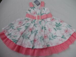 Girl-039-s-Pretty-Pumpkin-Patch-Multi-Colour-Embroidery-Dress-Size-6-NWT