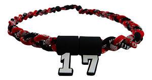 PICK YOUR NUMBER KIDS Camo Camoflauge Braided Tornado Necklace Baseball Softball