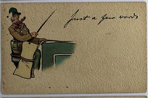 Antique-Raphael-Tuck-Postcard-Just-a-Few-Words-Series-339