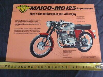 Brochure Maico Md 125 Supersport Tecnologie Sofisticate