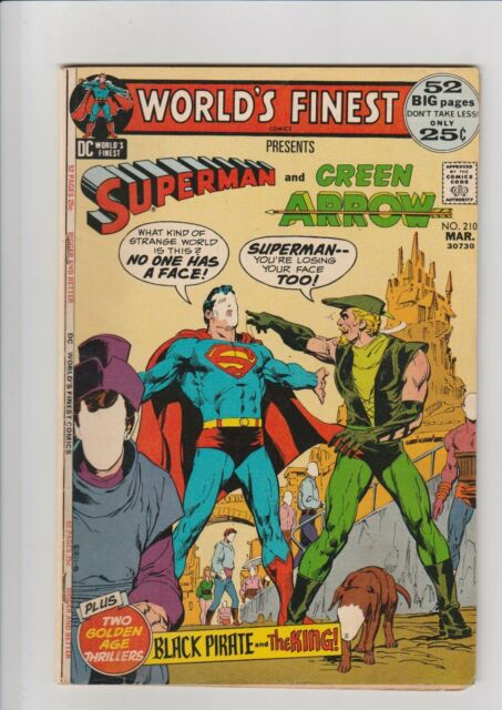 World's Finest #210 F 1972 DC Comic Superman Green Arrow