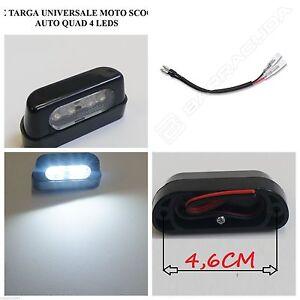 LUCE-TARGA-4-LED-OMOLOGATA-PROLUNGA-CAVO-per-TUTTE-le-MOTO-OFF-ROAD