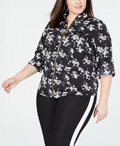 MICHAEL-Michael-Kors-Plus-Size-Zip-Front-Shirt-Black-White-2X-WS94LB7C4G