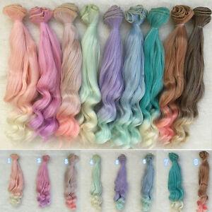 12-Farbe-DIY-Doll-Wig-High-temperature-Wire-Hair-for-1-3-1-4-1-6-BJD-Hair-Neu