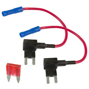 2 x add a circuit piggy back fuse tap mini blade fuse. Black Bedroom Furniture Sets. Home Design Ideas
