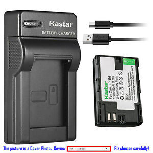 Kastar-Battery-Slim-Charger-for-Canon-LP-E6-LP-E6N-LC-E6-amp-Canon-EOS-60D-Camera