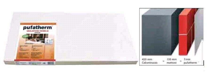 Pufatherm 4 mq isolierplatte 8 PZ pannello isolante per interno 7 mm 50x100 cm p