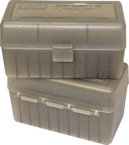 Clear Smoke NEW MTM 50 Round Flip-Top 220 Swift 243 308 Win Ammo Box