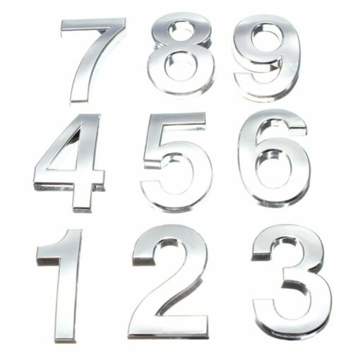 Modern Color Silver Digits Plaque Plate Number Door Hotel Sticker House Sign